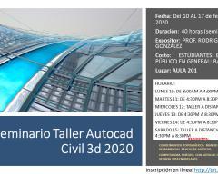 Seminario Taller Autocad Civil 3d 2020