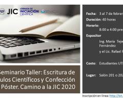Seminario Taller: Escritura de Artículos Científicos y Confección de Póster. Camino a la JIC 2020
