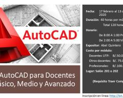 AutoCAD para DocentesBásico, Medio y Avanzado