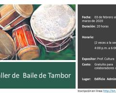 Taller de  Baile de Tambor