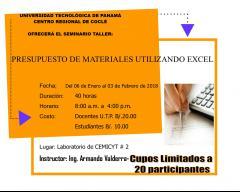 Presupuesto de Materiales Utilizando Excel